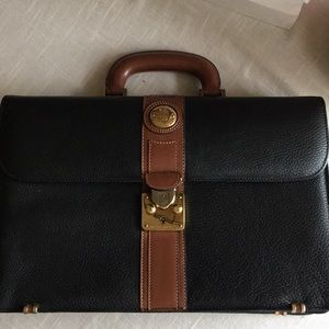 c6dc56913fe Vintage Bruno Magli Black Leather Briefcase